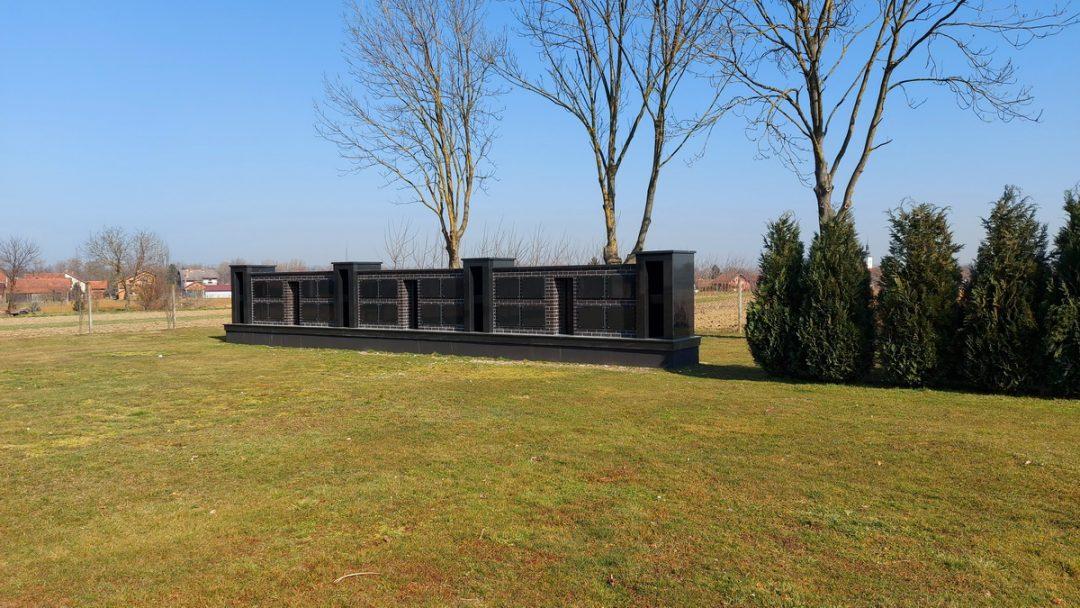 Gradsko groblje, Mursko Središće – Izgradnja zida urni